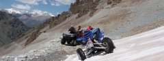Quad off road adventure tour through the high mountains of Tian Shan