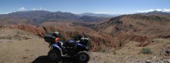 Quad adventure tour to the Kegety pass and on to the Konortchok canyons